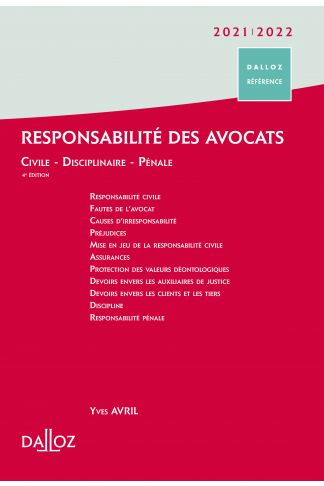 Responsabilité des avocats 2021/22