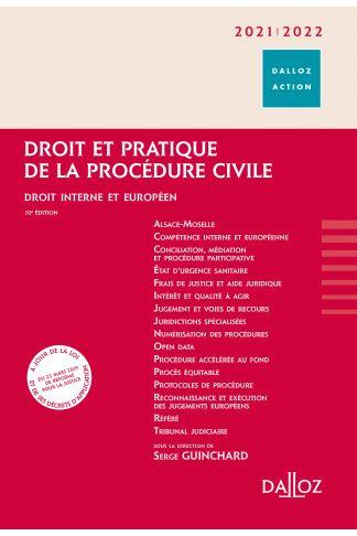 Droit et pratique de la procédure civile 2021/2022