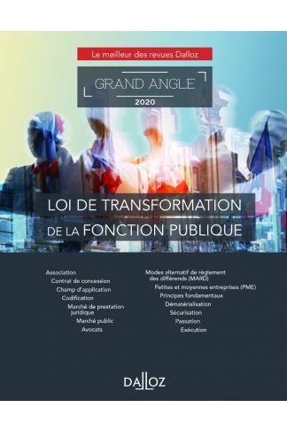 Loi de transformation de la fonction publique