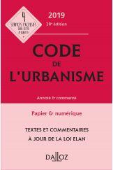 Code de l'urbanisme 2019, annoté et commenté