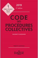 Code des procédures collectives 2019, annoté & commenté
