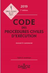 Code des procédures civiles d'exécution 2019, annoté et commenté