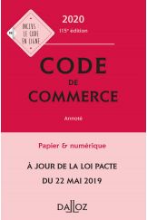 Code de commerce 2020, annoté
