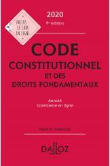 Code constitutionnel et des droits fondamentaux 2020, annoté et commenté en ligne