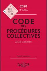 Code des procédures collectives 2020, annoté & commenté