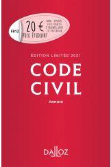 Code civil 2021 annoté. Édition limitée