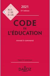 Code de l'éducation 2021, annoté et commenté