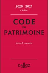 Code du patrimoine 2020-2021, annoté et commenté