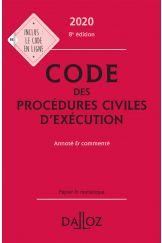 Code des procédures civiles d'exécution 2020, annoté et commenté