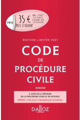 Code de procédure civile 2021 annoté. Édition limitée