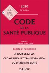 Code de la santé publique 2020, annoté commenté en ligne