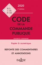 Code de la commande publique 2020, annoté et commenté