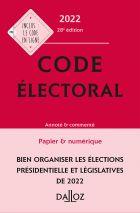 Code électoral 2022, annoté