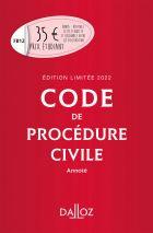 Code de procédure civile 2022 annoté. Édition limitée