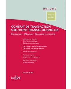 Contrat de transaction - Solutions transactionnelles 2014/2015
