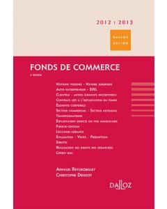 Fonds de commerce 2012/2013