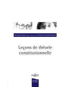 Leçons de théorie constitutionnelle