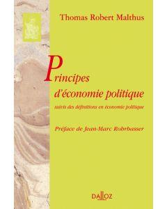 Principes d'économie politique. Suivis des définitions en économie politique
