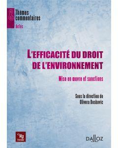 L'efficacité du droit de l'environnement