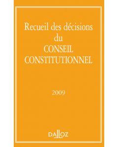 Recueil des décisions du Conseil constitutionnel 2009