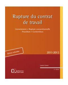 Rupture du contrat de travail 2011/2012