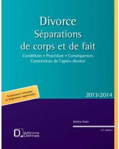 Divorce. Séparations de corps et de fait 2013/2014