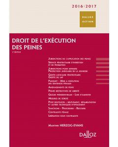 Droit de l'exécution des peines 2016/2017