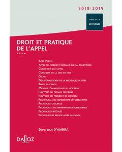 Droit et pratique de l'appel 2018/2019