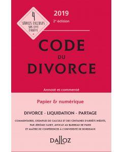 Code du divorce annoté et commenté 2019