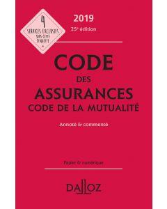 Code des assurances, code de la mutualité 2019, annoté et commenté