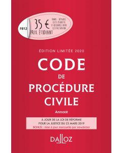 Code de procédure civile 2020 annoté. Édition limitée