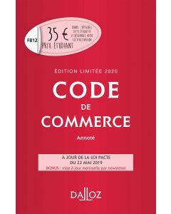 Code de commerce 2020 annoté. Édition limitée