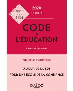 Code de l'éducation 2020, annoté et commenté