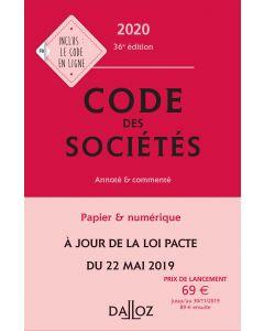 Code des sociétés 2020, annoté et commenté