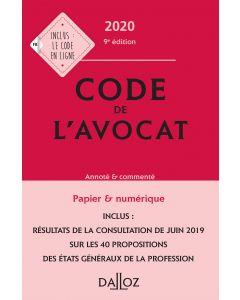 Code de l'avocat 2020, annoté & commenté
