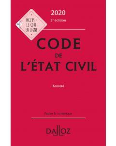 Code de l'état civil 2020, annoté