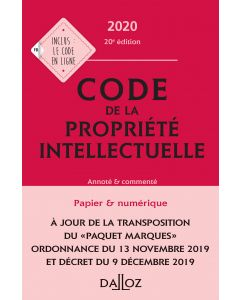 Code de la propriété intellectuelle 2020, Annoté et commenté