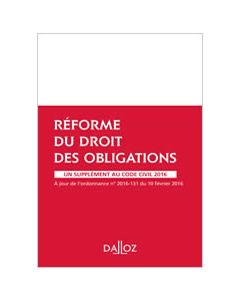 Réforme du droit des obligations - Supplément