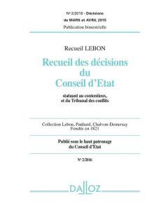 Recueil Lebon - Recueil des décisions du Conseil d'Etat