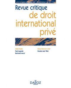 Revue critique de droit international privé