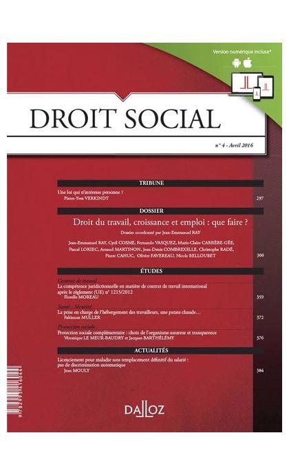 Droit social (Abonnement 2021)