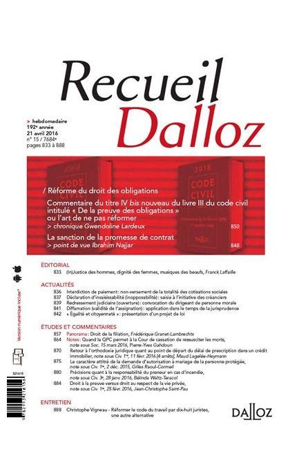 Recueil Dalloz  (Abonnement 2021)
