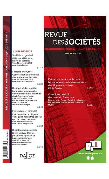 Revue des sociétés (Abonnement 2021)