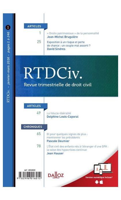 RTD Civ. (Abonnement 2021)