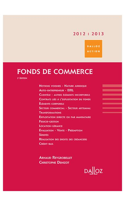 Fonds de commerce 2012/2013