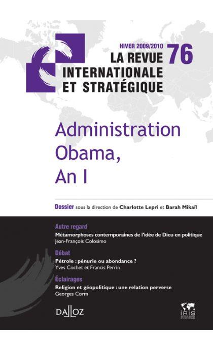 Administration Obama, An I