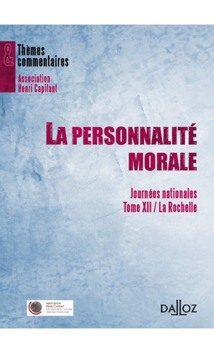 La personnalité morale