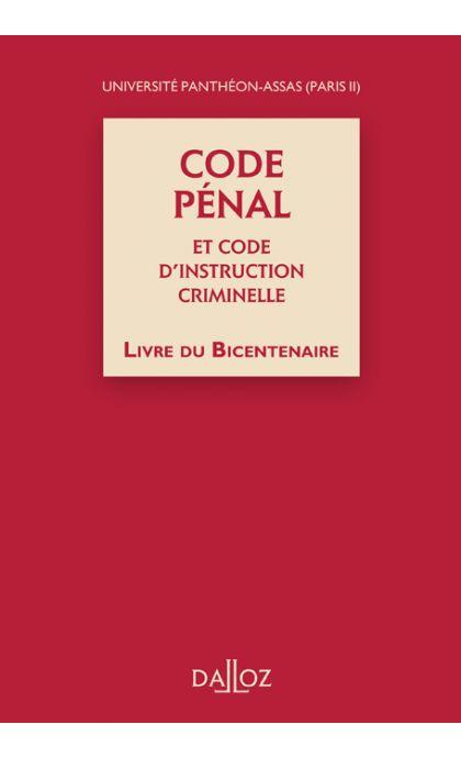 Code pénal et Code d'instruction criminelle, Livre du Bicentenaire