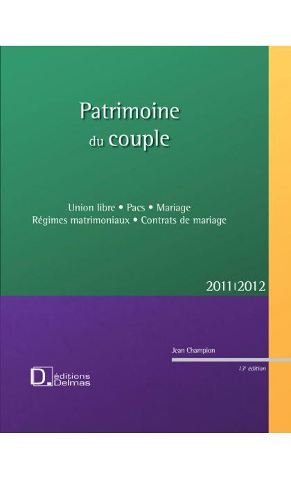 Patrimoine du couple 2011/2012