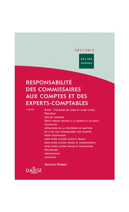 Responsabilité des commissaires aux comptes et des experts-comptables 2011/2012